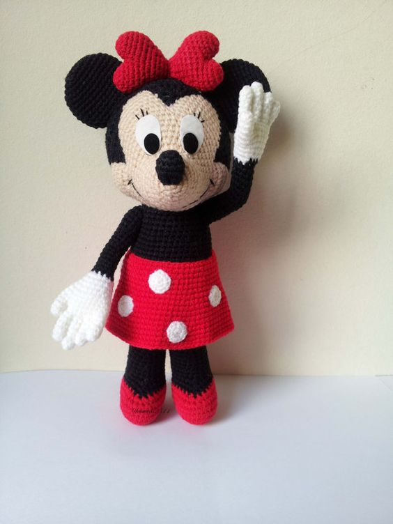 Crochet Minnie Mouse Doll : Crochet dolls, Minnie mouse and Mice on Pinterest