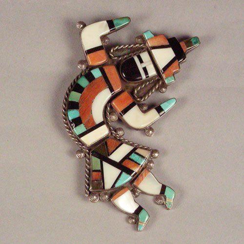 Rainbow Man Inlay Pin, c. 1950