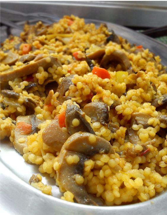 #couscous de champiñones. Muuuuuy ricos :) @Tahona Moderna