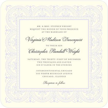 Delicate Details - Signature Ecru Wedding Invitations - Sarah Hawkins Designs - Eggshell - Neutral : Front