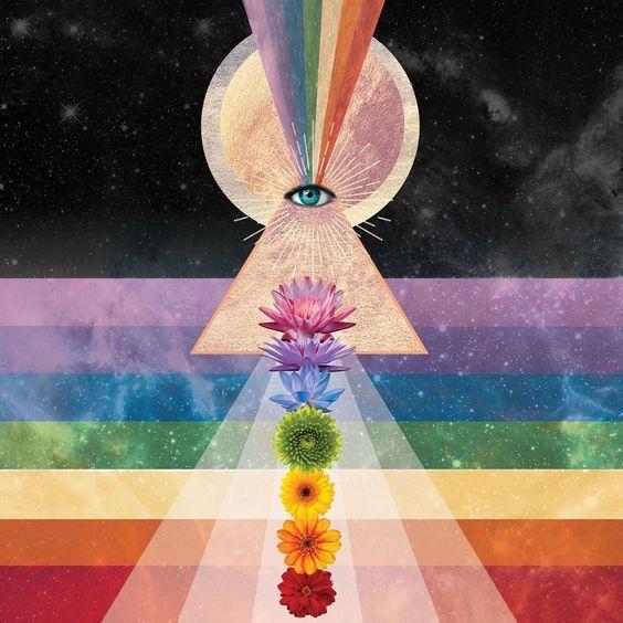 Serpen Spirit Third Eye Sahasrara Crown Kundalini False Light Lucifer New Age Illumination Cosmic Art Celestial Art Psychedelic Art
