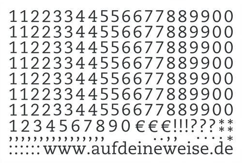 """Alphabet Sticker """"Eva"""" – schwarz; Bogen 3 (1-0)"""