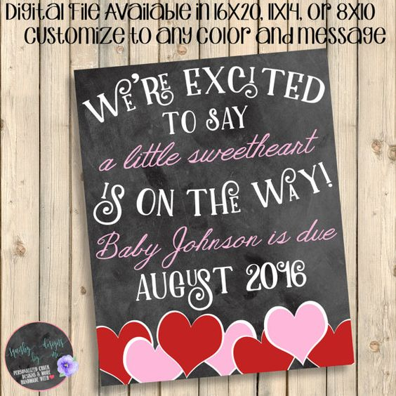 Valentines Day Baby On The Way Announcement Future Sweetheart – Baby on the Way Announcement