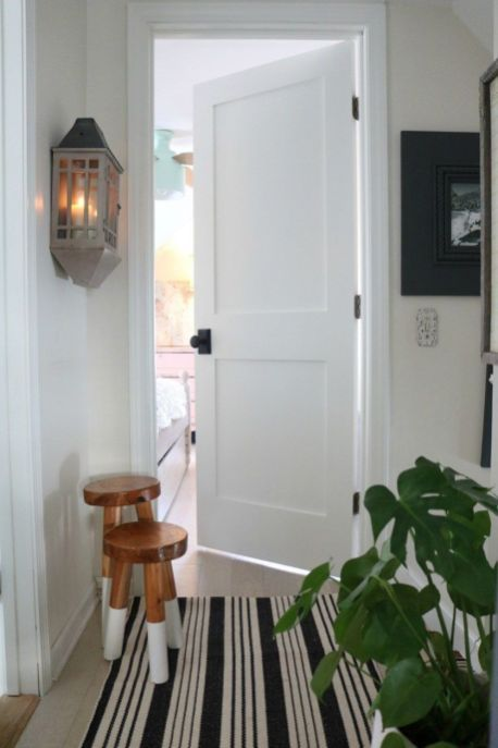 pintu indoor kayu warna putih