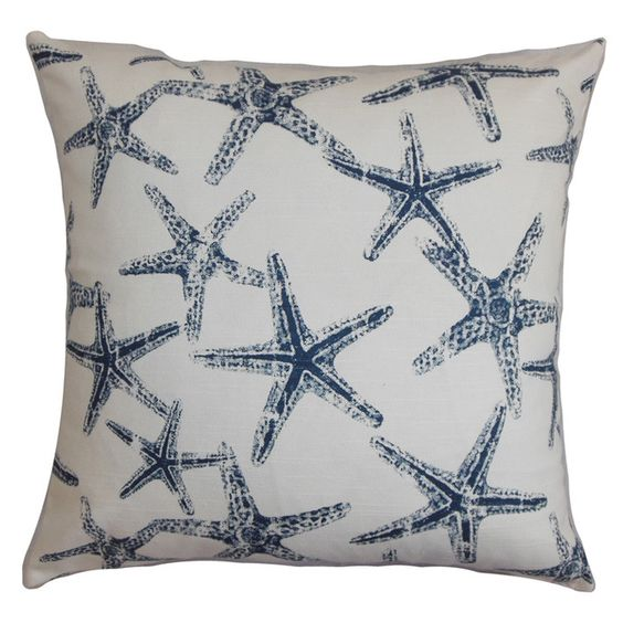 Sea Star Pillow - featuring a starfish motif and feather-down fill. Made in the USA..  By the Sea on Joss & Main