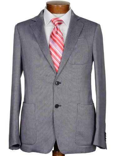 Salvatore Ferragamo Mens Fitted Sportcoat Jacket 38r Euro 48 Blue Made In Italy