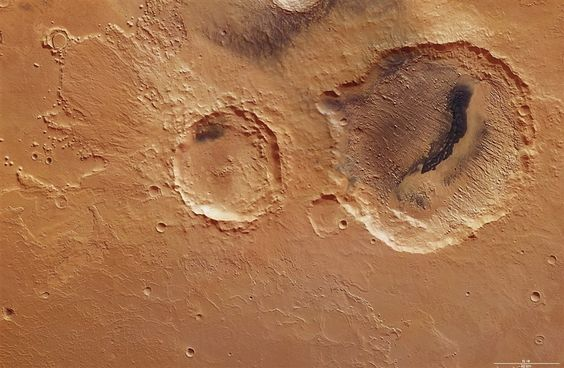 Danielson Crater on Mars was created using data obtained from the High- Resolution Stereo Camera (HRSC) on ESA's Mars Express.