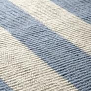 Hand Crafted Striped Rug Light Blue And Off White Flat Woven Wool Click Here Www Therugest Com To See More Of The Designer Range Rugs