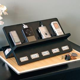 Ledger electronic holder cell phone charging station Diy cell phone charging station