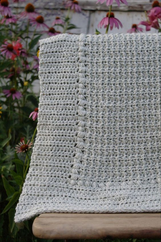 DIY Baby Blanket Pattern, Easy Crochet Newborn, Crochet Blanket ...