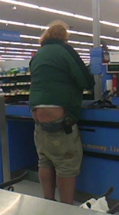 Walmart Goes Green Butt Crack - Funny Pictures at Walmart http://ibeebz.com