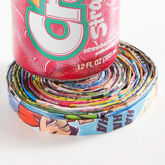 DIY Recycled-Paper Coaster