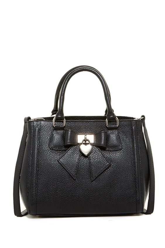Leather Heart Charm Handbag by Renata Corsi on @nordstrom_rack