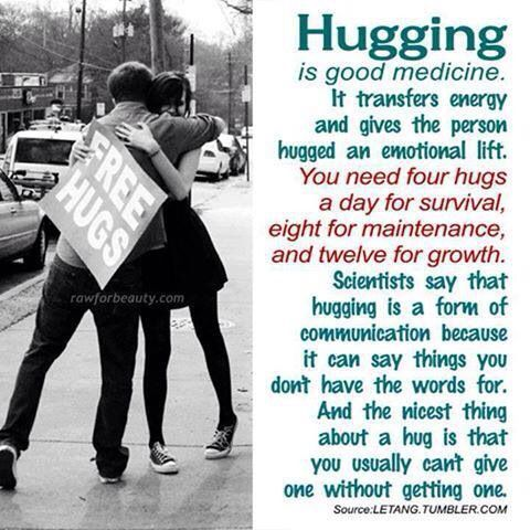 Hugging makes it all better!
