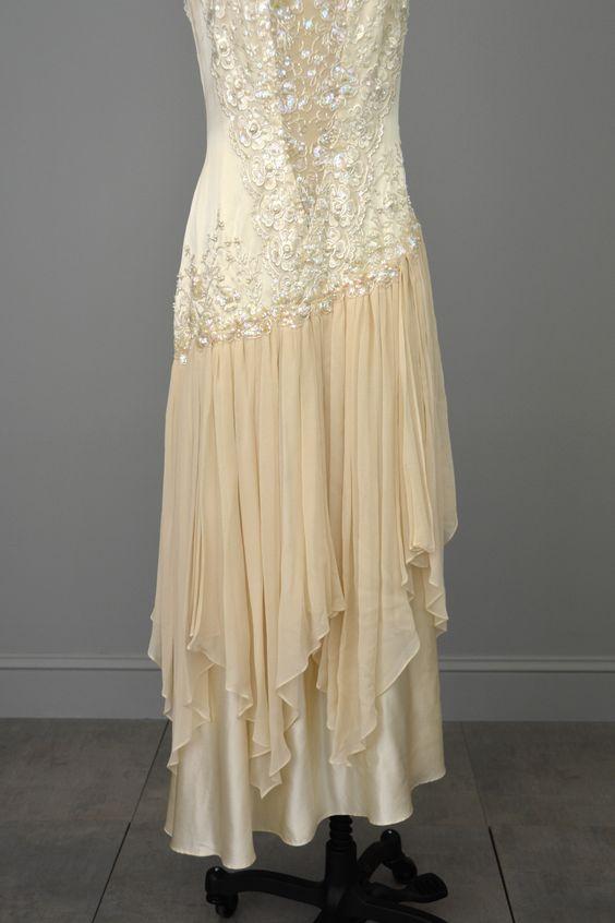 After 6 lace dress 80s