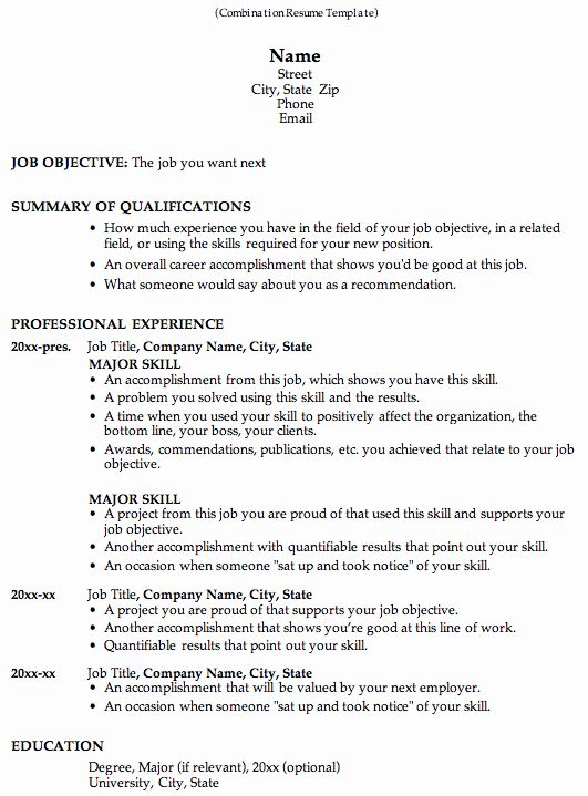 Combination Resume Template Word Luxury How To Use A Bination Resume When Job Searching Profiles Functional Resume Job Resume Job Resume Template