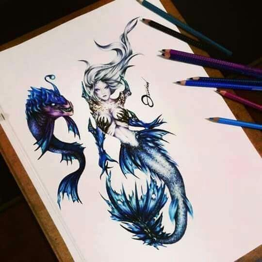 Desenho sereia