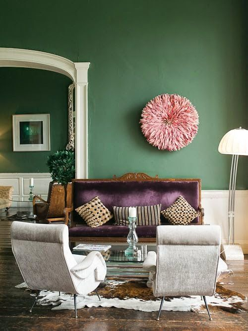 Decorating With The Purple Green Combination Living Room Remodel Living Room Green Green Accent Walls #purple #and #green #living #room #ideas
