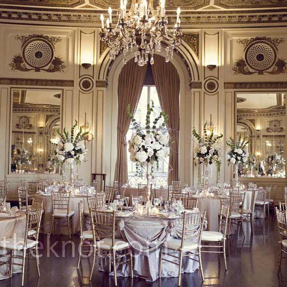 Vintage and elegant reception decor inspiration // Kristen Taylor Photography // http://www.theknot.com/weddings/album/a-vintage-modern-wedding-in-detroit-mi-99946
