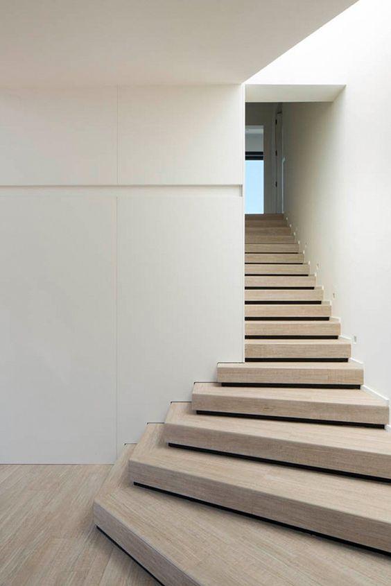 Maison chic et contemporaine escaliers