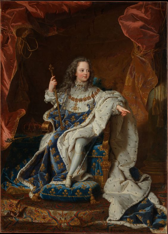Louis XV (1710–1774) at the Age of Five in the Costume of the Sacre Artist: Hyacinthe Rigaud (French, Perpignan 1659–1743 Paris) and Workshop Date: ca. 1716–24 Medium: Oil on canvas