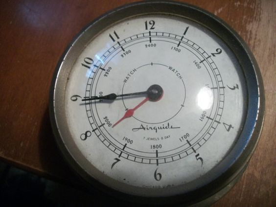 Airguide 7 jewel 8 day nautical clock by SteamPunkDaddy on Etsy, $30.00