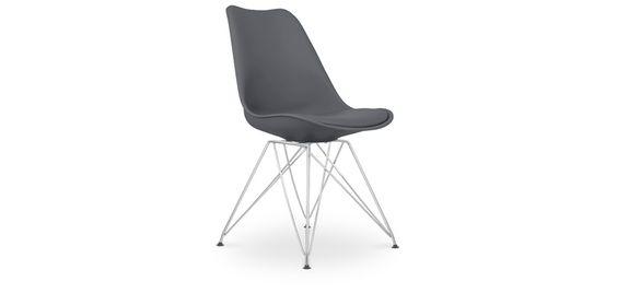 Chaise Style DSR avec coussin - Polypropylène Matt