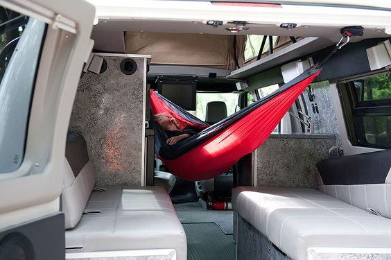Hammock in a Sportsmobile