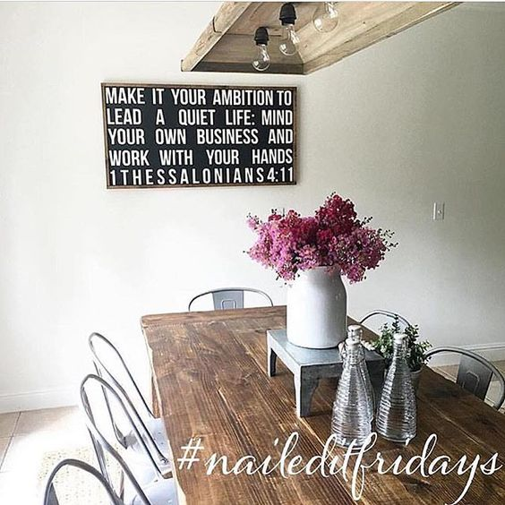 It's time for #NailedItFridays  If you built it, designed it, painted it, you totally nailed it! Like Laney here who built this gorgeous table AND sign!!! We can't wait to see your craftsmanship!  1. Follow your hosts Liz @desertdecor  Laney @backroadsignco  Jaci @shabbydesertnest  Lucy @birdie_farm  2. #Naileditfridays  3. Invite your friends to join in! Would @myfarmhousefaded @everything_so_lovely @lifeoncoombscreek like to get us started!