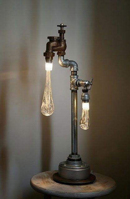 A unique lamp design love