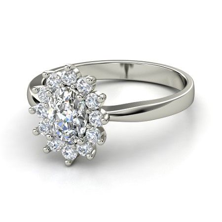 Oval Diamond Platinum Ring with Diamond - Aunt Star's Ring | Gemvara