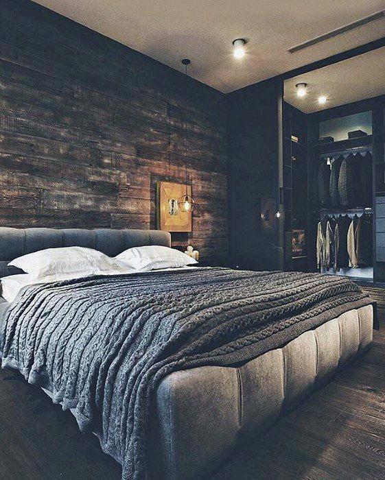 50 Ultimate Bachelor Pad Designs For Men Luxury Interior Ideas Rustic Bedroom Design Men S Bedroom Design Bachelor Pad Bedroom