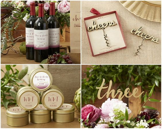 New Vineyard Wedding Favors from KateAspen at HotRef