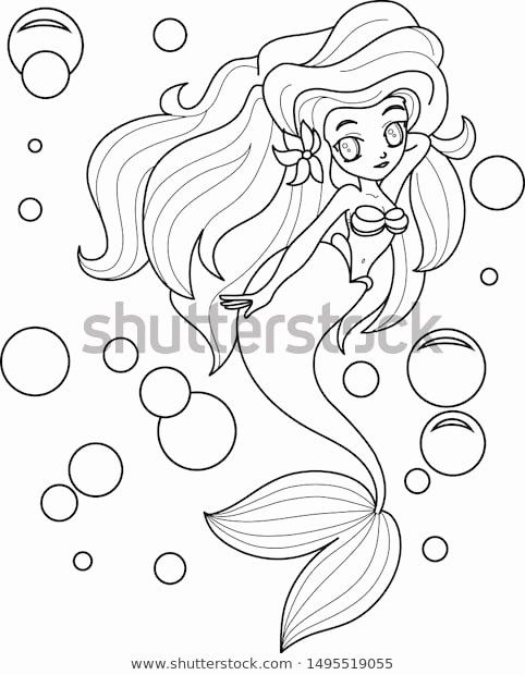 Line Art For Coloring Lovely Vector De Stock Libre De Regalas Sobre Beautiful Mermaid In 2020 Line Art Art Color