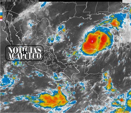 AVISO DE CICLÓN TROPICAL EN EL OCÉANO PACÍFICO 31/AGO/2016!!!  * Se ha generado zona de inestabilidad al sureste de Chiapas la cual afecta a Guerrero!!!  Acapulco de Juárez Guerrero, a 31 de Agosto del 2016.- Un canal de baja presión se extenderá en el occidente de la República Mexicana y estará asociado con una zona de baja presión al sur de las costas de Michoacán, lo que...