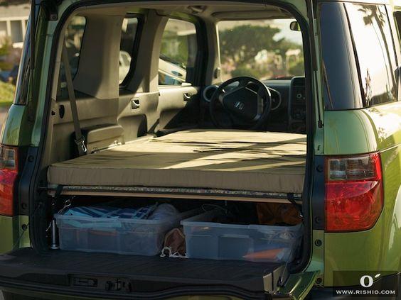 Honda Element Camper car! Excellent Idea! | V A N ...