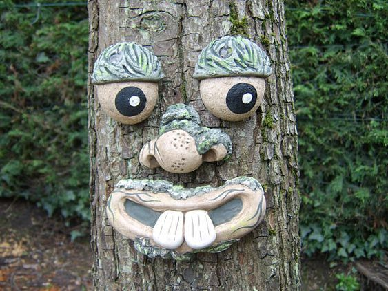 Tree Face Outdoor Decorations Garden Sculptures Statues Whimsical Garden Ornaments Gifts For Gardeners Yard Art Funny Faces Tree Faces Garden Ornaments Whimsical Garden