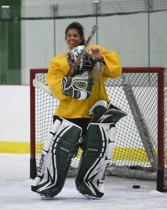 One hand, one tough goalie   Minnesota Girls Hockey Hub