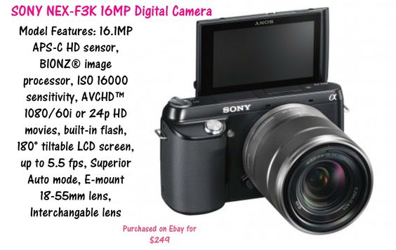 97~Unboxing/Mini Review of the Sony NEX F3K Digital Camera