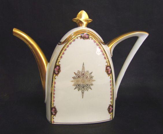 Theiere art deco porcelaine de limoges tlb france art for Art et decoration france