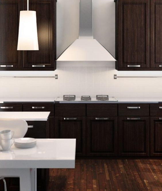 Elegant L Shaped Solid Wood Kitchen Cabinets Latest: Kitchen Modern, Vent Hood And Craft Cabinet On Pinterest