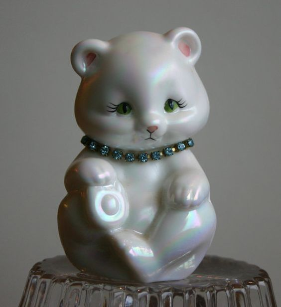 Fenton Birthstone Bear March Aquamarine by LePetitPavot on Etsy, $16.50
