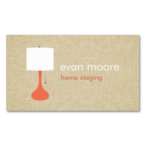 Modern Lamp Home Staging Business Card Linen Zazzle Com Home Staging Modern Lamp Staging