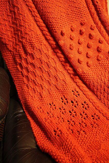 Knitted - Bulky sampler blanket by Gen Nielsen...complimentary pattern availa...