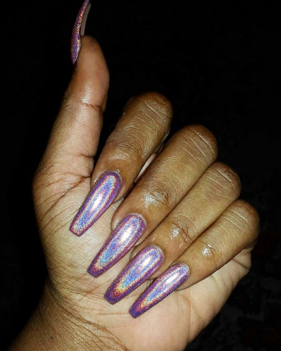 Holographic Nails: Holographic Nails, Like U And Manicures On Pinterest