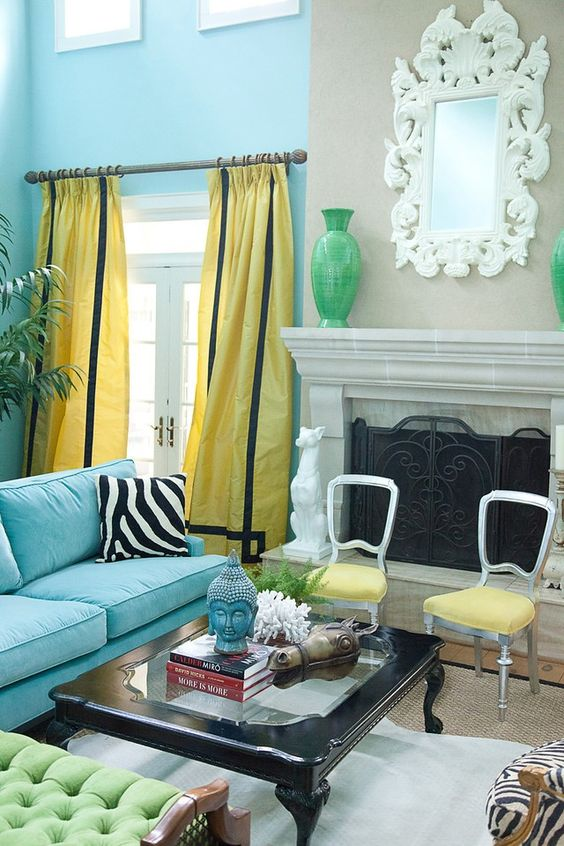 Turquoise Living Rooms And Marmalade On Pinterest
