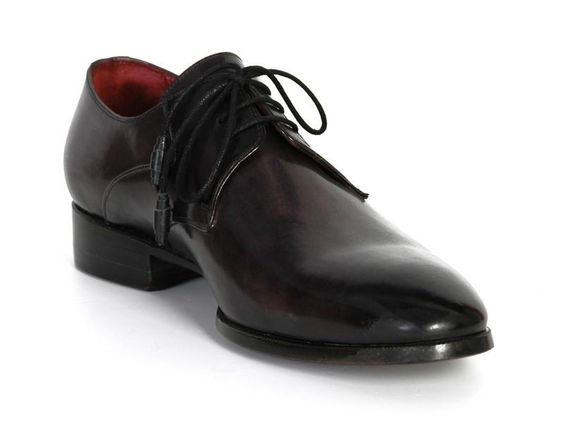 Paul Parkman Men's Anthracite Black Derby Shoes (ID#054F-ANTBLK)