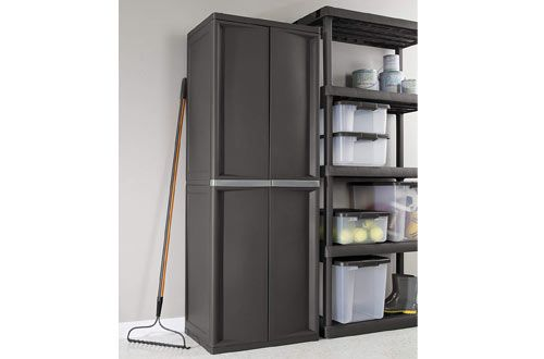 Plastic Storage Cabinets, Sterilite Storage Cabinets With Doors And Shelves