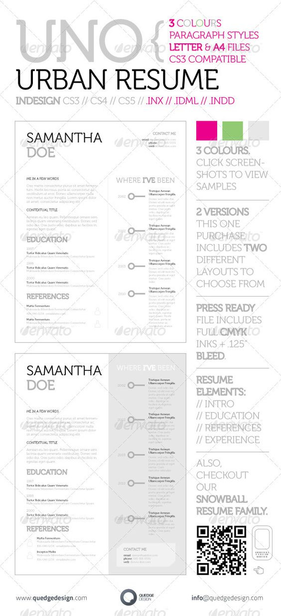 Modern and Elegant Resume Simple resume, Indesign templates and - cleaning job resume
