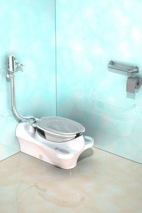 Squatting toilet again double duty not flush w floor bathrooms pinterest toilets - Commode not flushing completely ...